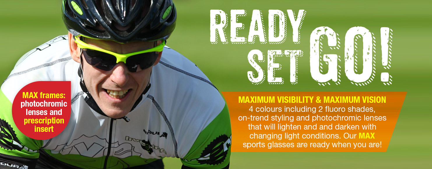 Ready Steady GO - Optilabs MAX frames with Photochimic lenses