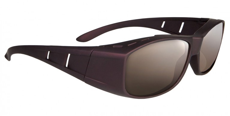 Maroon Solus frames with brown lenses