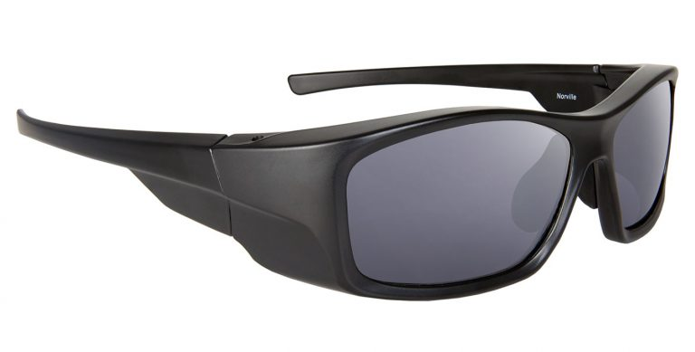 Black Norville frames with grey lenses
