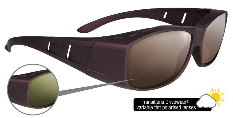 Solus frames with Transitions Drivewear® lenses