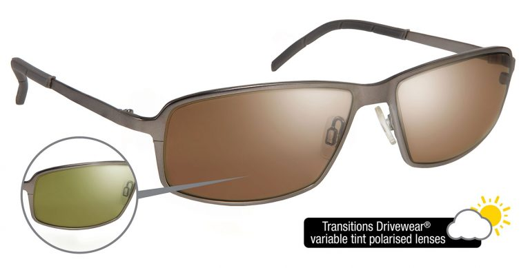 Steele frames with Transitions Drivewear® lenses