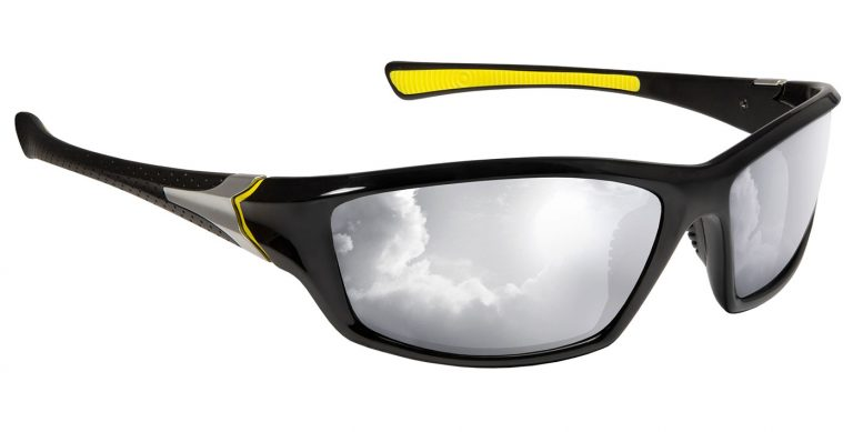 Sabre frames with polarised silver mirror lenses